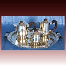 French Art Deco Silverplate Coffee/Tea Set Circa 1930's