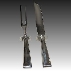 Art Deco Silver Meat Carving Set H.R. Morse & Company
