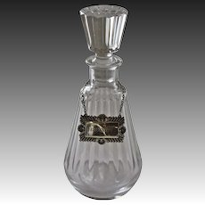 1970's Baccarat Lead Crystal Brandy Decanter
