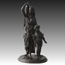Late 19th Century Patinated Bronze Sculpture by Leon Pilet