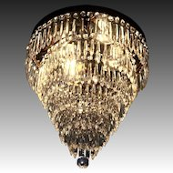 Flush Mounted Ceiling Chandelier Circa 1920-1930's