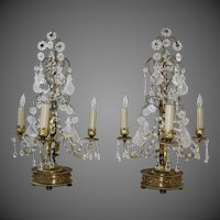 Pair of Hollywood Regency Girandole Lamps