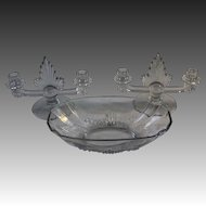 George Sakier Flame 3-piece Console Set for Fostoria Glass Company
