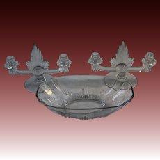 George Sakier Flame 3-piece Console Set for Fostoria Glass Company