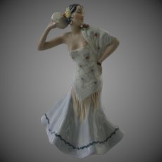 Royal Dux Spanish Dancer with a Tambourine