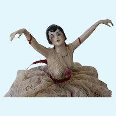 Dancing Flapper Pin Cushion Doll