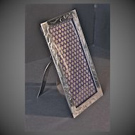 Art Nouveau Silver-plated Easel picture frame