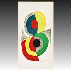 Sonia Delaunay Lithograph, Rhythms and Colors 1