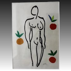 "Henri Matisse, ""Nu aux Oranges"" Original Color Lithograph"