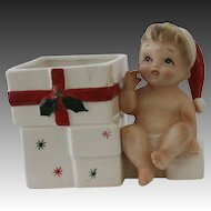 1950's Ceramic Christmas Baby Planter