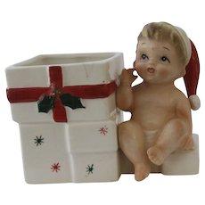 1950's Ceramic Christmas Baby Planter