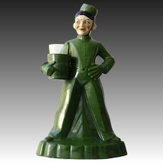 Art Deco Bellhop Liquor Decanter German/Austrian 1930's