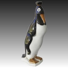 St. Clement Ceramics Art Deco Penguin Decanter Circa 1930's