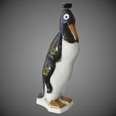 St. Clement Ceramics Art Deco Penguin Decanter Circa 1930's