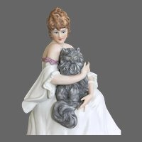 "Icart Figurine "" Le Chat Percian"""