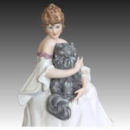 "Icart Figurine "" Le Chat Percian"""