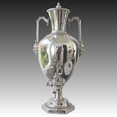 Late 19th Century Anglo-Irish Silver Plated Hot Water Urn