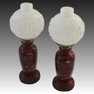 Pair of 1930's Victorian Revival Boudoir Lamps