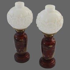 Pair of 1930's Victorian Revival Boudoir Lamps
