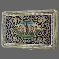 Early 20th Century Florentine 800 Silver Snuff Box