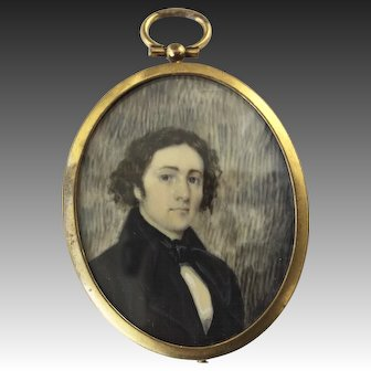 19th Century Miniature Portrait of a Young Man