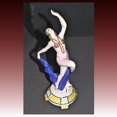 Goebel Art Deco porcelain Ballet Russe Figurine Double Crown