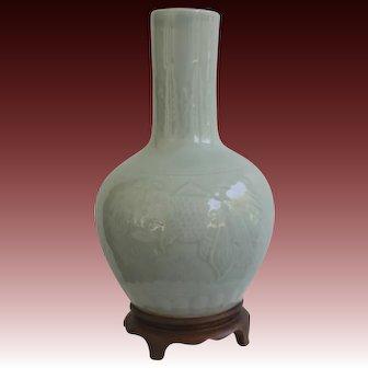 Chinese Export Celadon Vase Circa 1980