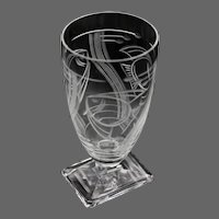 4 Art Deco Crystal Cordial/Aperitif Glasses