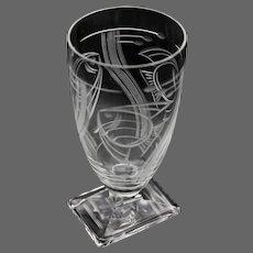 4 Art Deco Crystal Cordial/Aperitif Glasses