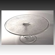 "Jeanette Glass Co. ""Harp"" cake stand c. 1950"