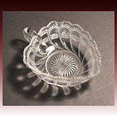 EAPG Bubble Swirl Nappy early 20th Century