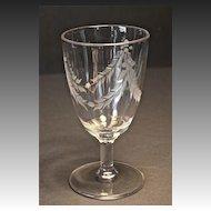 EAPG 6 Water Goblets with wheel cut Garland Design c. 1880-90