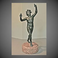"Dancing Faun 19th Century Bronze ""Grand Tour"" souvenir c. 1880-90"