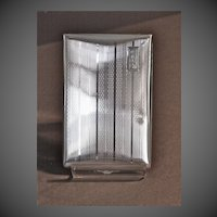 Watrous Mfg. Company Art Deco Sterling Silver Cigarette Case C. 1927