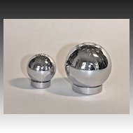 Chase Art Deco Orb Salt & Pepper Shakers by Russell Wright
