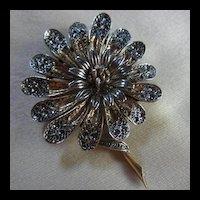 ART Signed Sun Flower Vintage Brooch Pin