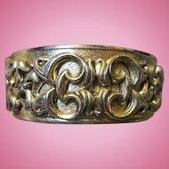 Whiting & Davis Signed hinged Bangle Bracelet