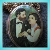 "Portrait Locket on 24"" Chain Necklace"