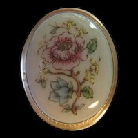Lenox signed Flower Porcelain Pin Pendant