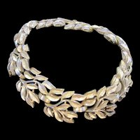 Crown Trifari Vintage Gold tone Leaf Bracelet