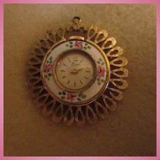 Coro Guilloche Pendant Vintage Watch