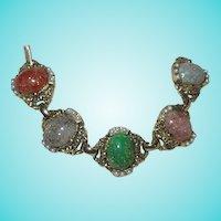 Fabulous Vintage Confetti 5 Link Bracelet