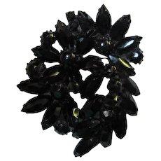 Weiss Exotic Black Japaned Brooch