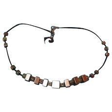 Pierre Cardin Modernist Cubist Vintage Necklace
