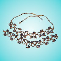 Beautiful Cornflower Blue  Necklace  Bracelet Demi Parure Set