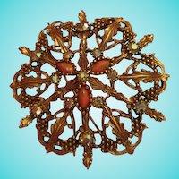 Rare Emmons Statement Art Glass Brooch Pendant
