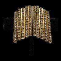 Gorgeous Vintage Statement Column Pave CZ Earrings