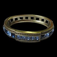 Heidi Daus Signed Royal Blues Bangle Bracelet
