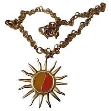 Fabulous Anne Klein Iconic Sunshine Vintage Statement Necklace Signed