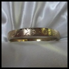 Napier Hand etched Florentine Gold filled Bangle Bracelet